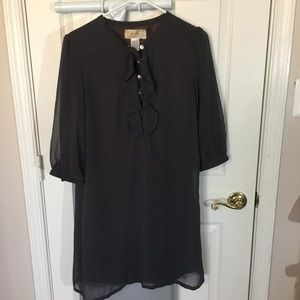 Francesca's Collections Dress Dark Grey